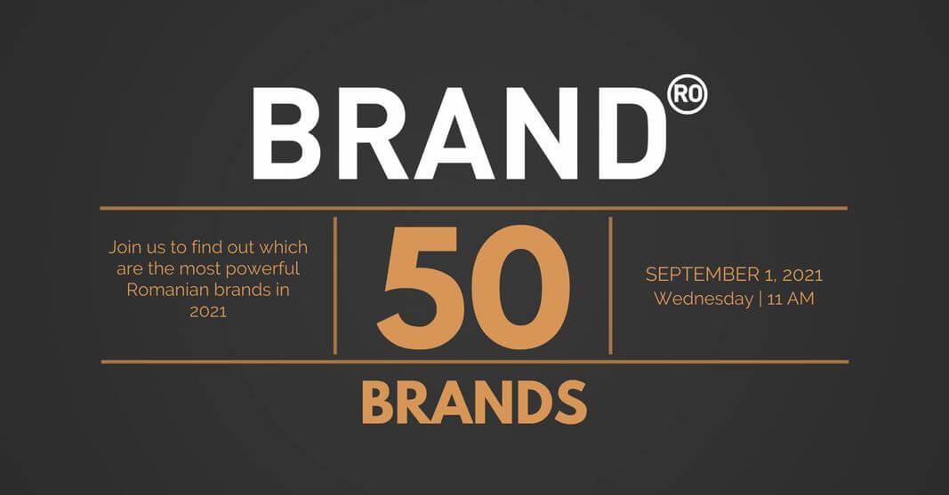 BrandRO 2021: Top 50 strongest Romanian brands